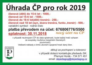 ČP pro rok 2019